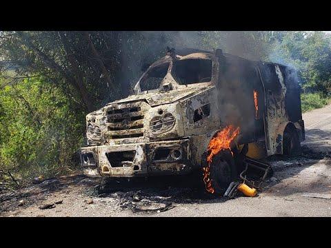Jacobina: Quadrilha fortemente armada explode carro-forte na BR-324; vídeo