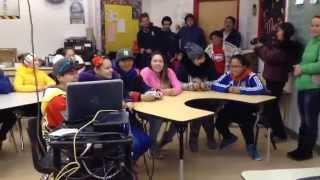 Hayley Wickenheiser SURPRISE to the RANKIN INLET Nunavut Girls Hockey TEAM