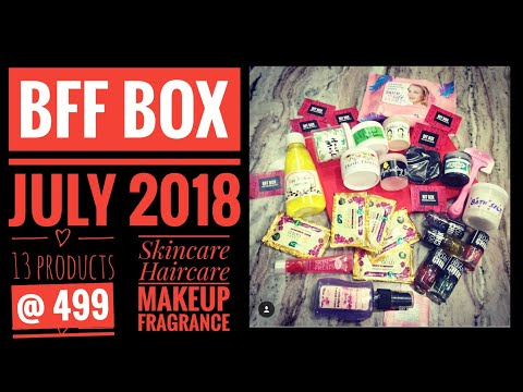 bff-box-july-2018-|-13-products-@-499-|unboxing-and-review