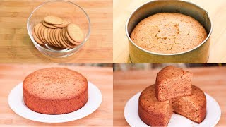 Marie Biscuits Cake In Cooker I Eggless & Without Oven
