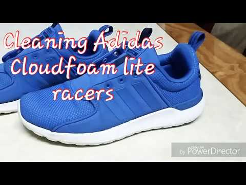 Cleaning Adidas Cloud foam lite racers with home products
