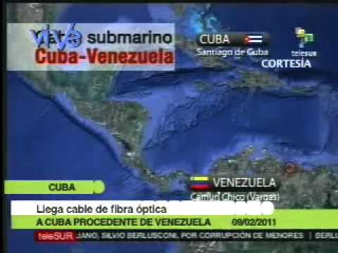Llega a Cuba cable de fibra óptica