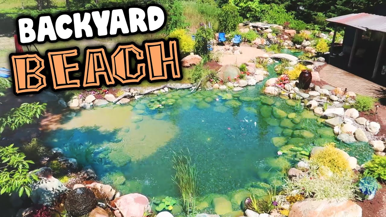 Vacation is Out Back with this *BEACH RECREATION POND*!