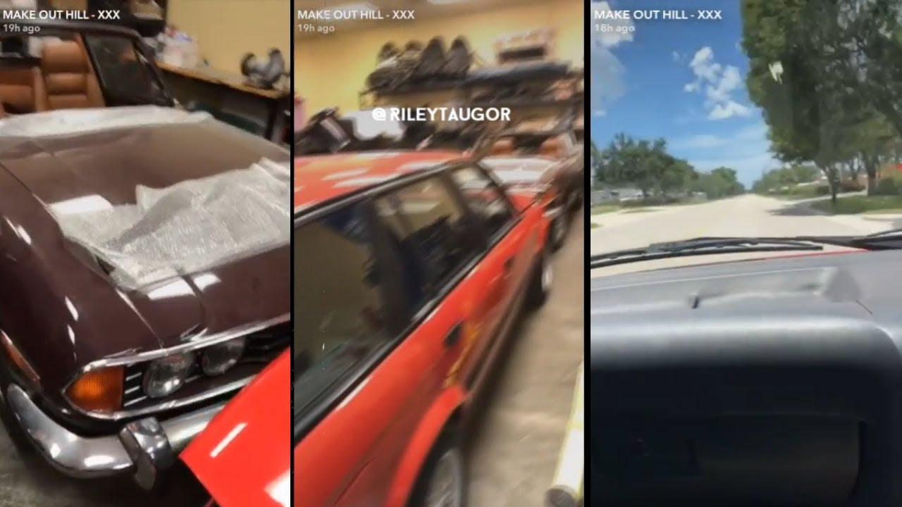 Xxxtentacion Shows His Garage Old Cars Bmw I8 Youtube