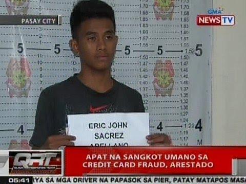QRT: 4 na sangkot umano sa credit card fraud, arestado sa Pasay