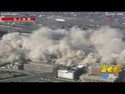Watch Seattle's Kingdome stadium implode