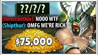 THIS GAME WON ME $75,000 IN A TOURNAMENT (NOT CLICKBAIT) - League of Legends