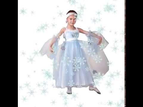 Новые модели костюмов снежинки