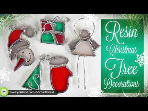 Stained glass from RESIN -  Christmas decoration DIY