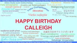 Calleigh   Languages Idiomas - Happy Birthday