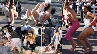 Wasn't it Ladies Day Aintree takes its toll racegoers kick off their heels and spill out of dresses