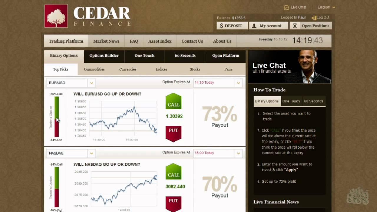 Cedar Finance Binary Options Trading Broker Review - blogger.com
