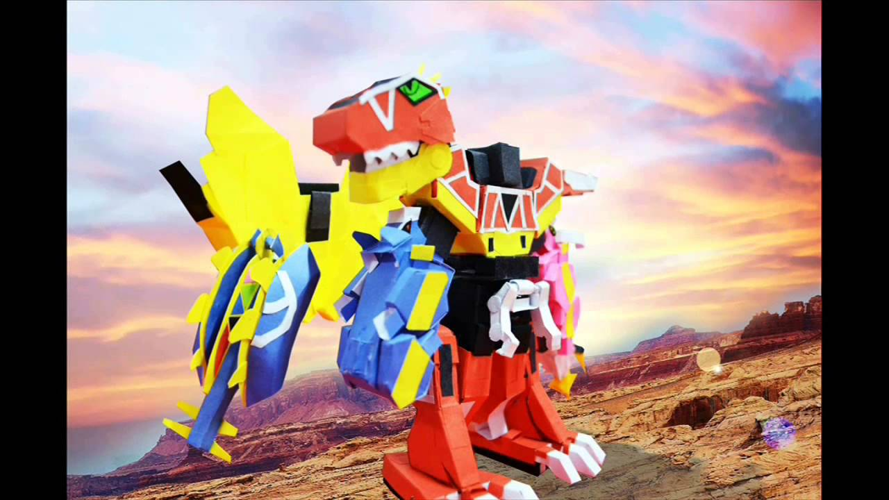 Papercraft Power Rangers Dino Charge Megazord PAPERCRAFT