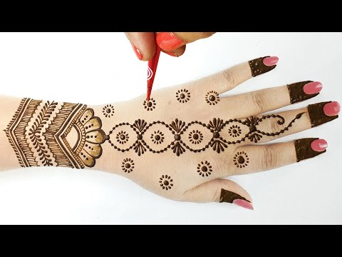 Stylish Dots Mehndi Design for Hands - आसान मेहँदी डिज़ाइन लगाना सीखे  - Arabic Wedding Mehndi 2020