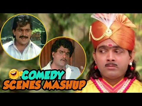 Best Comedy Scenes Mashup | Ashok Saraf, Laxmikant Berde | Non Stop Funny Marathi Movie Scenes