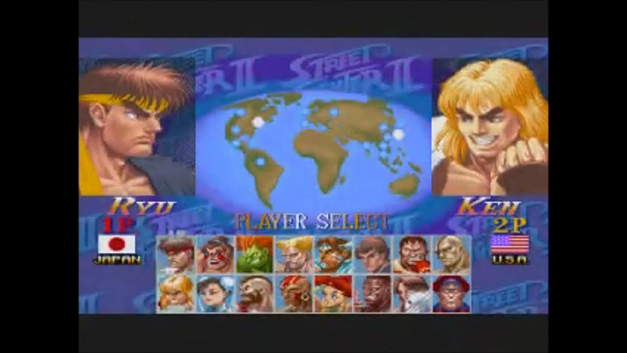 Super Street Fighter 2 X Turbo Music Player Select Arranged