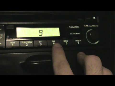 How to set the clock on a 7th generation Honda Civic stock radio