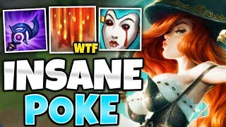 WTF?! ONE E POKES FOR HALF THEIR HP!! AP MISS FORTUNE MID IS TOO EASY - League of Legends