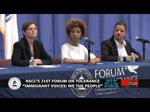 "NSCC's 31st Forum on Tolerance - ""Immigrant Voices: We The People"", Session 2 of 2"