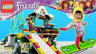 라임의 레고 프렌즈 스키장 가다! 레고 41324 스노우 리조트 스키장 스노우보드 스키 타기 장난감 놀이 lego friends LimeTube & Toy 라임튜브