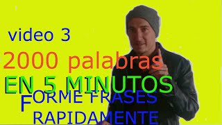 aprende 2000 palabras en inglés asociandolo al español lesson-3(video 3 de 3)
