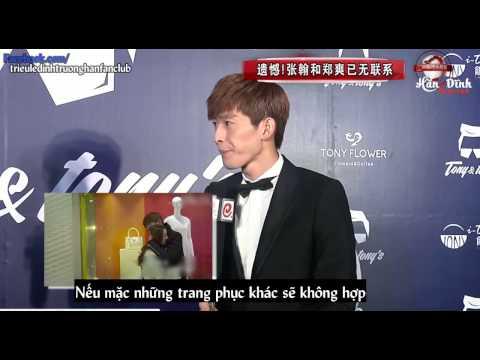[Vietsub] Phỏng vấn Trương Hàn trong event thời trang Tony
