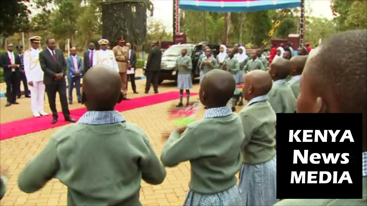 Children ENTERTAIN Uhuru Kenyatta with SONG and SHAIRI at KDF PASS OUT PARADE!!!