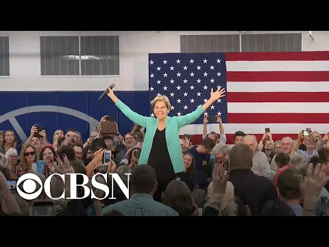 "Elizabeth Warren stops ""lock him up"" chant directed at pro-Trump protester"