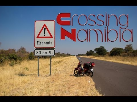 Crossing Namibia on my Scooter