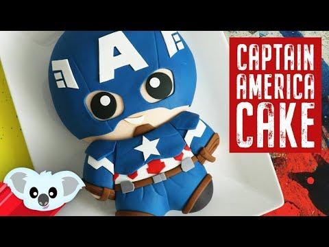 AVENGERS Captain America Cake | Infinity War| Koalipops How To