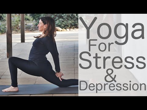 38 Minute Yoga for Stress and Depression Yoga with Fightmaster Yoga