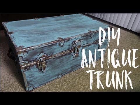DIY Antique Trunk!