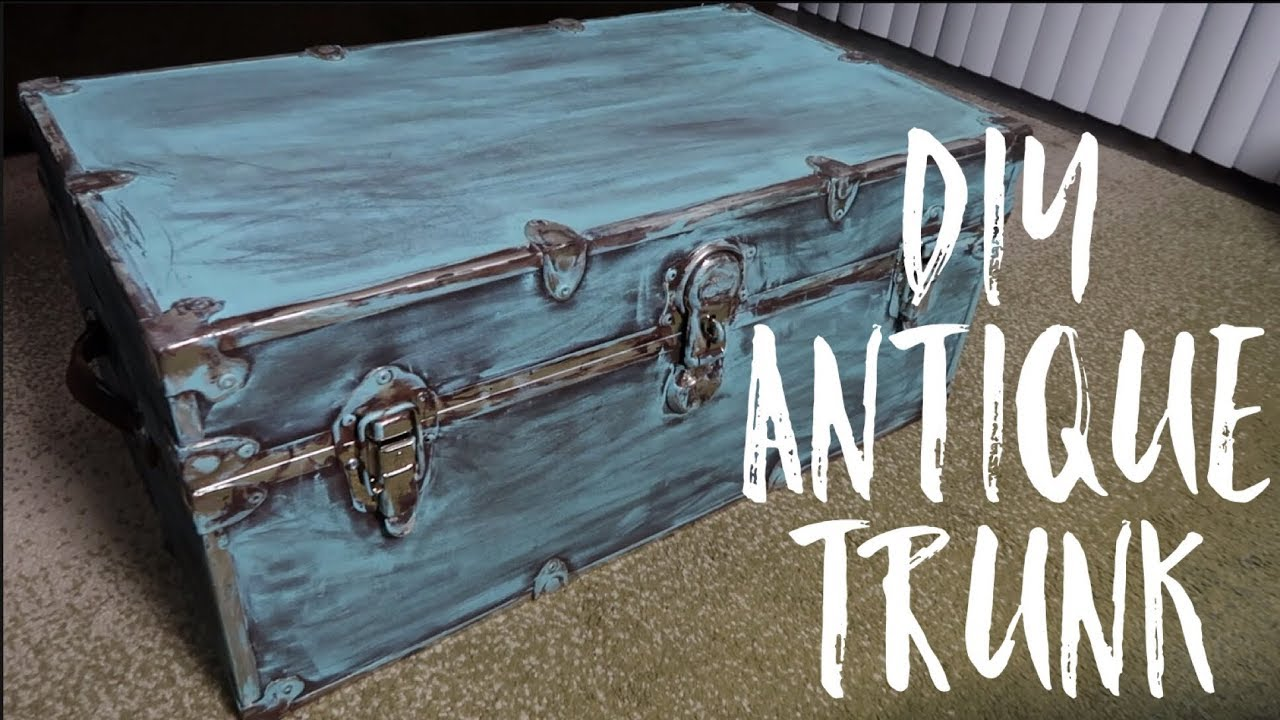 Painting an old steamer trunk