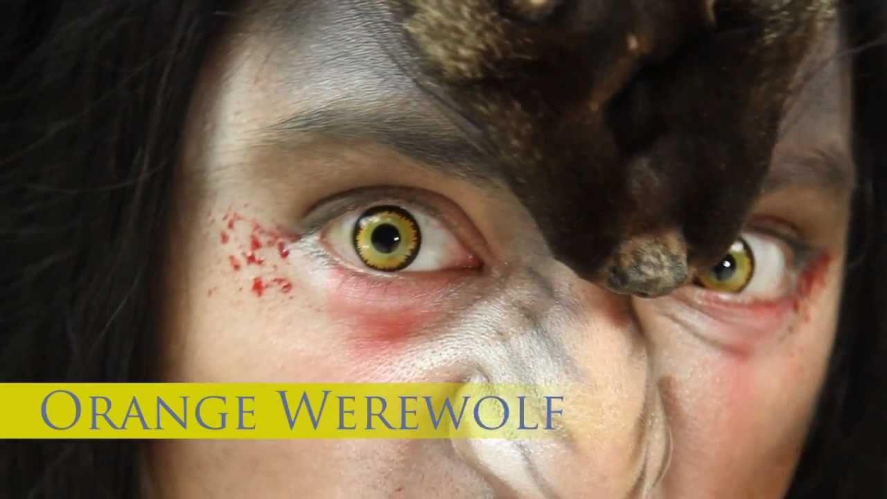 orange werewolf coloured contact lenses