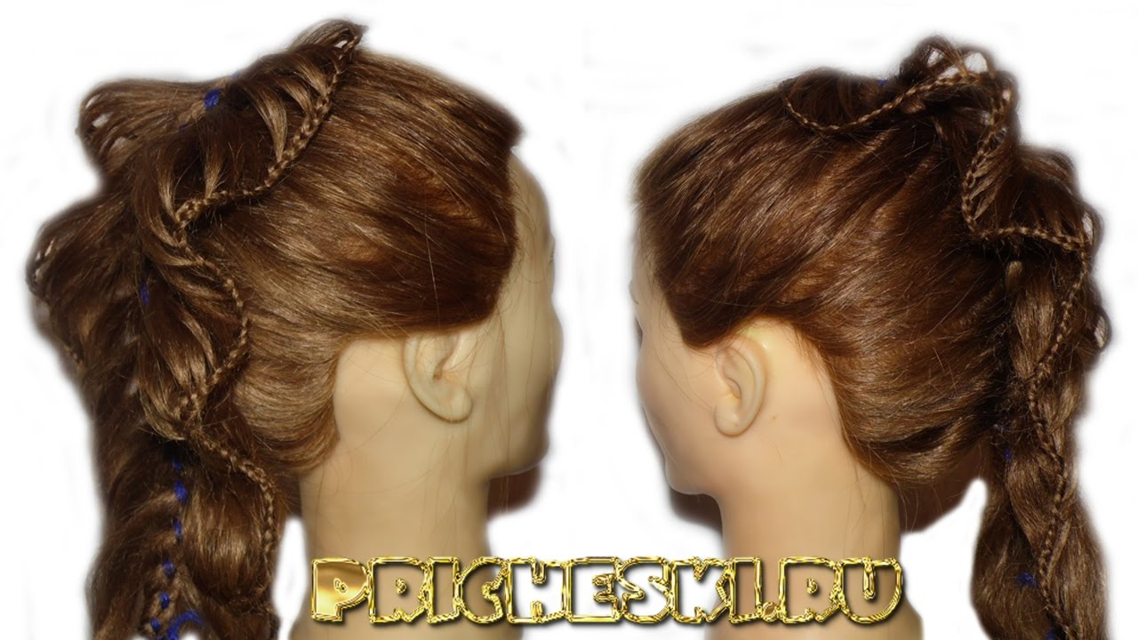 Прически для девочек.плетение кос 36