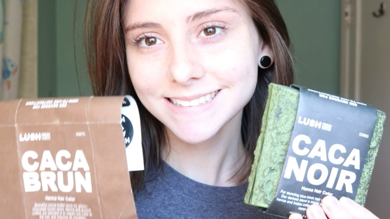 Dying My Hair With Lush Henna Brun And Noir Youtube