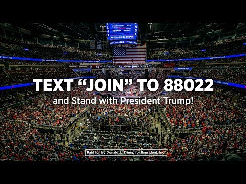 "Text ""VOTE"" to 88022; Donald J. Trump for President; Text 88022"