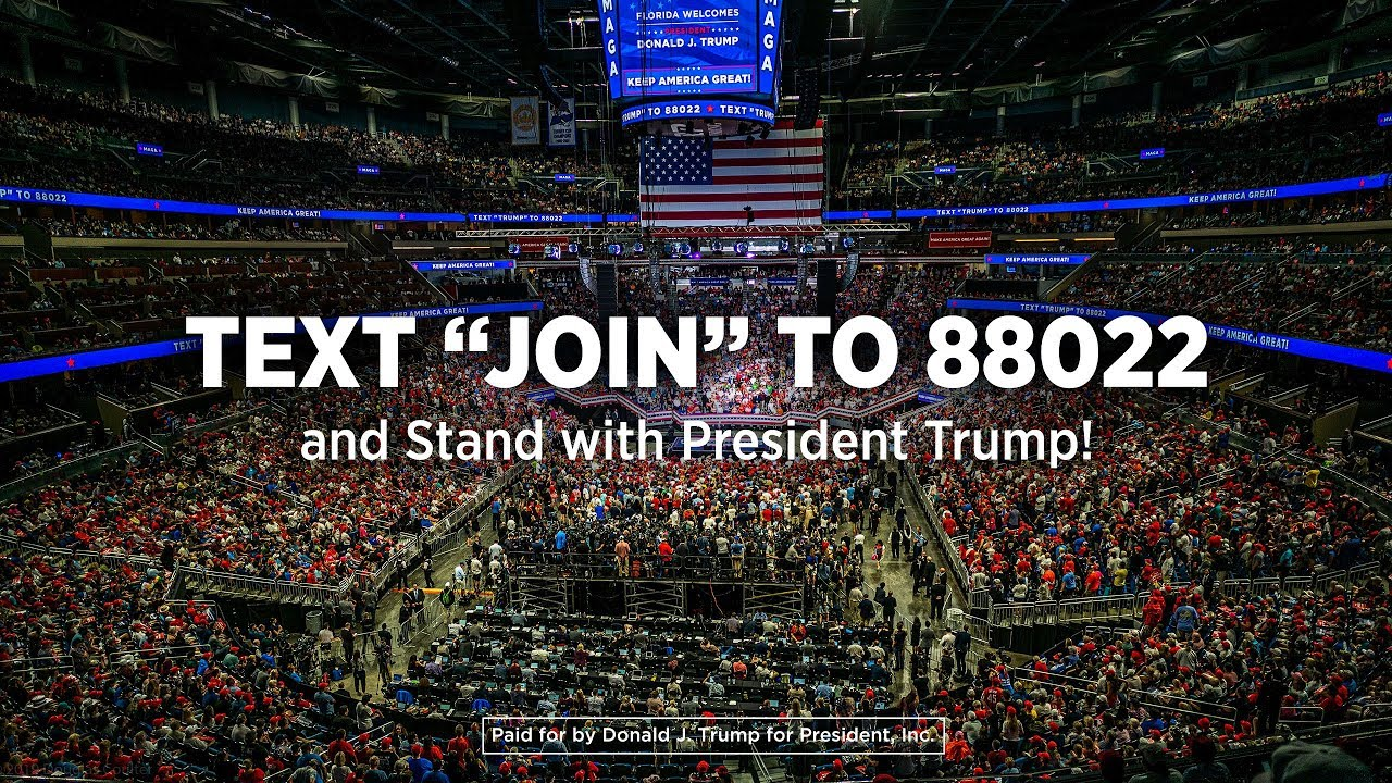 "Donald J. Trump Text ""VOTE"" to 88022; Donald J. Trump for President; Text 88022"