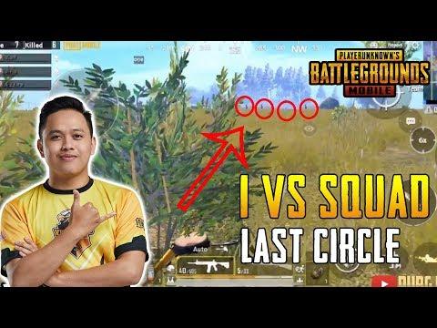 LAST CIRCLE 1 VS SQUAD! VipYakuza GAMEPLAY   PUBG Mobile Malaysia