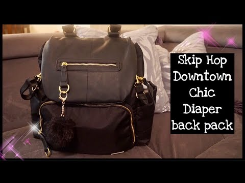 SKIP HOP CHELSEA DOWNTOWN CHIC DIAPER BACK PACK REVIEW