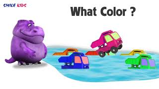 Squishy Dinosaurs funny cartoons for kids learning colors with Toys Truck educational for toddlers