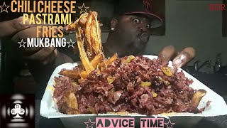 ☆Chili Cheese Pastrami Fries Mukbang☆(Advice Time)[Eating Show]