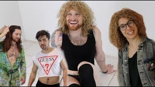 TRYING ON CELEBRITY'S ICONIC OUTFITS!!