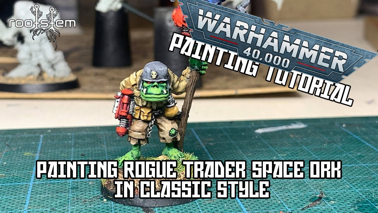 Painting up a Classic Rogue Trader Figure