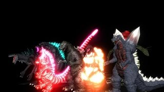 [mmd godzilla] atomic breath contest super-cut (600 subscribers special)