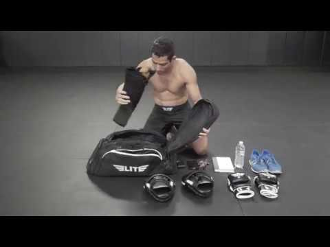 Elite Sports Warrior Series Boxing MMA BJJ Gear Gym Duffel Backpack Bag