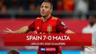 Spain hit seven in Malta rout | Spain 7-0 Malta | UEFA Euro 2020 Qualifiers