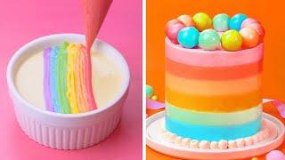 How To Make Rainbow Chocolate Cake Decorating Tutorial | So Yummy Cake Decorating Recipes