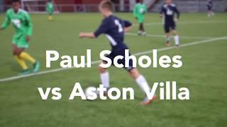 Paul Scholes vs Aston Villa goal recreation | Achieve More!