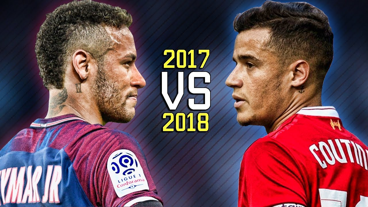 Neymar Jr Vs Philippe Coutinho Skills Battle Whos The Most - Coutinho's hairstyle